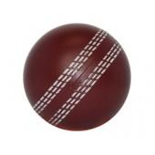 Stress ball - cricket ball burgundy